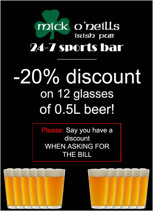 discounts everyday at the best pub in Odessa
