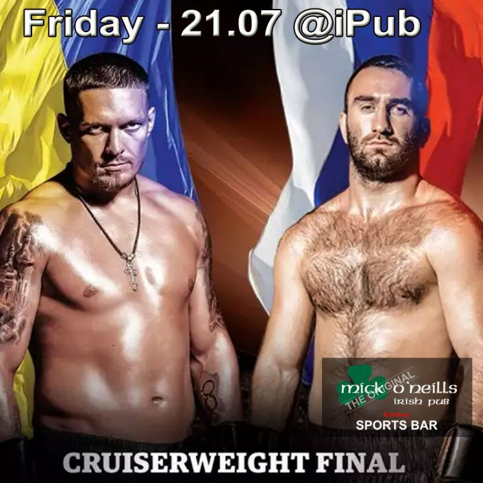 Friday 21st July boxing - UKRAINE VS RUSSIA